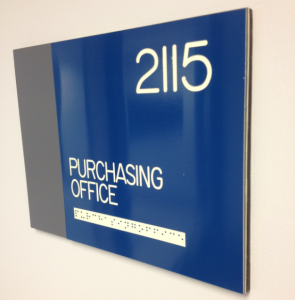 Purchasing Office Sign