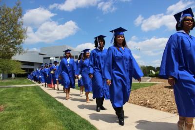 Line of graduates