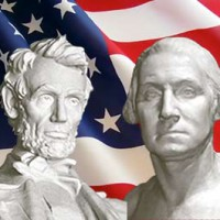 Photo of Abraham Lincoln and George Washington