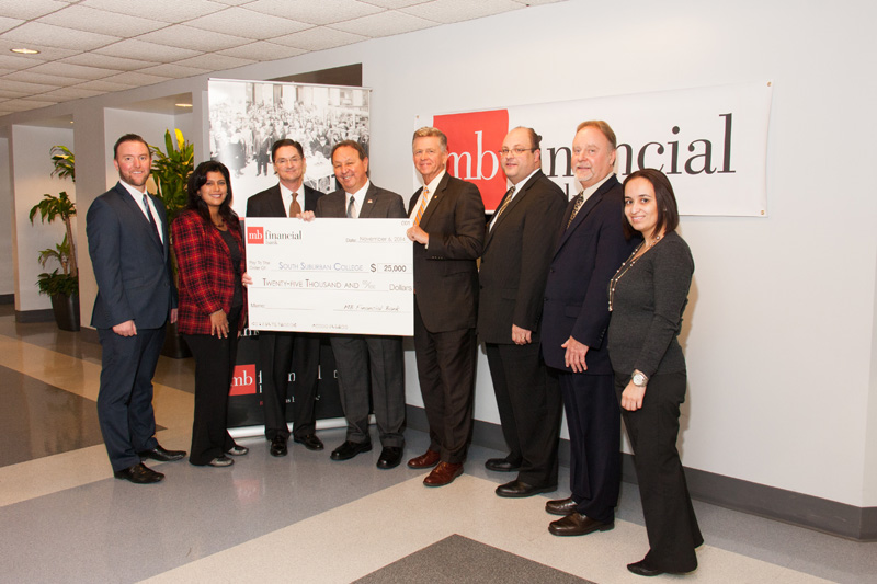 mb Financial Presents a check to SSC