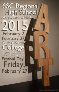 SSC Regional High School Student Art Exhibit poster