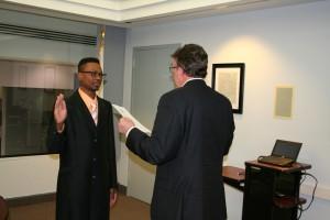 Harris is sworn in