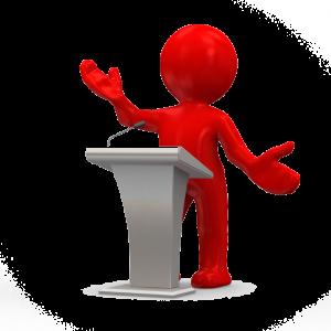 Illustration of public speaker