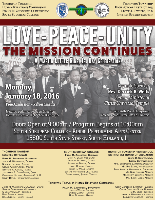 Martin Luther King Jr Day Celebration 2016 South Suburban College