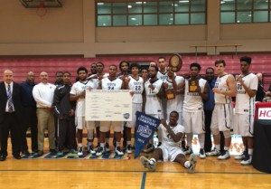 Photo of SSC Men's Region IV Champion Basketball team