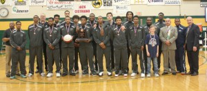 Photo of the SSC Men's Basketball team at Nationals