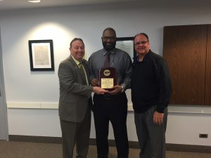 photo of SSC Chairman Frank Zuccarelli with Coaches Darrell Scott and Steve Ruzich