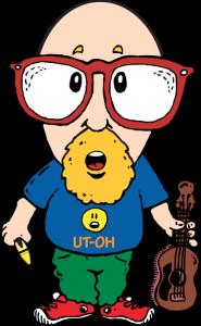 Cartoon of Dave Rudolf