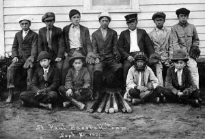 Photo of the St. Paul Island Baseball team - 1921