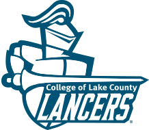 College of Lake County Lancers logo