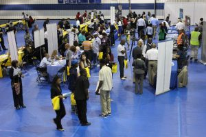 Job Seekers at the South Suburban College and Thornton Township Job Fair at the College