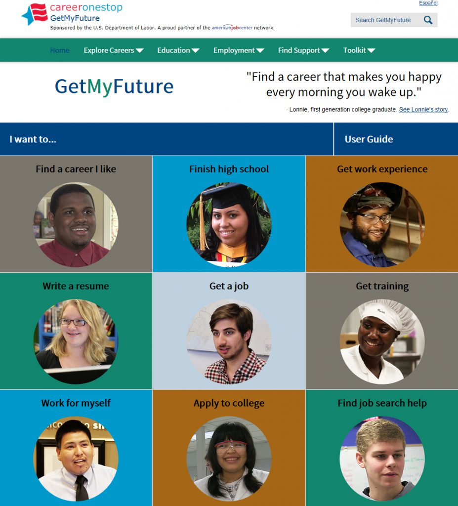 Photo of GetMyFuture.com webpage