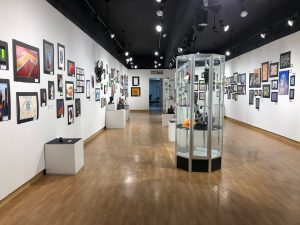 Artwork from local High School students currently on display in the Photo Four Gallery during SSC's Regional Student Art Exhibit.
