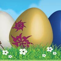 Easter eggs art