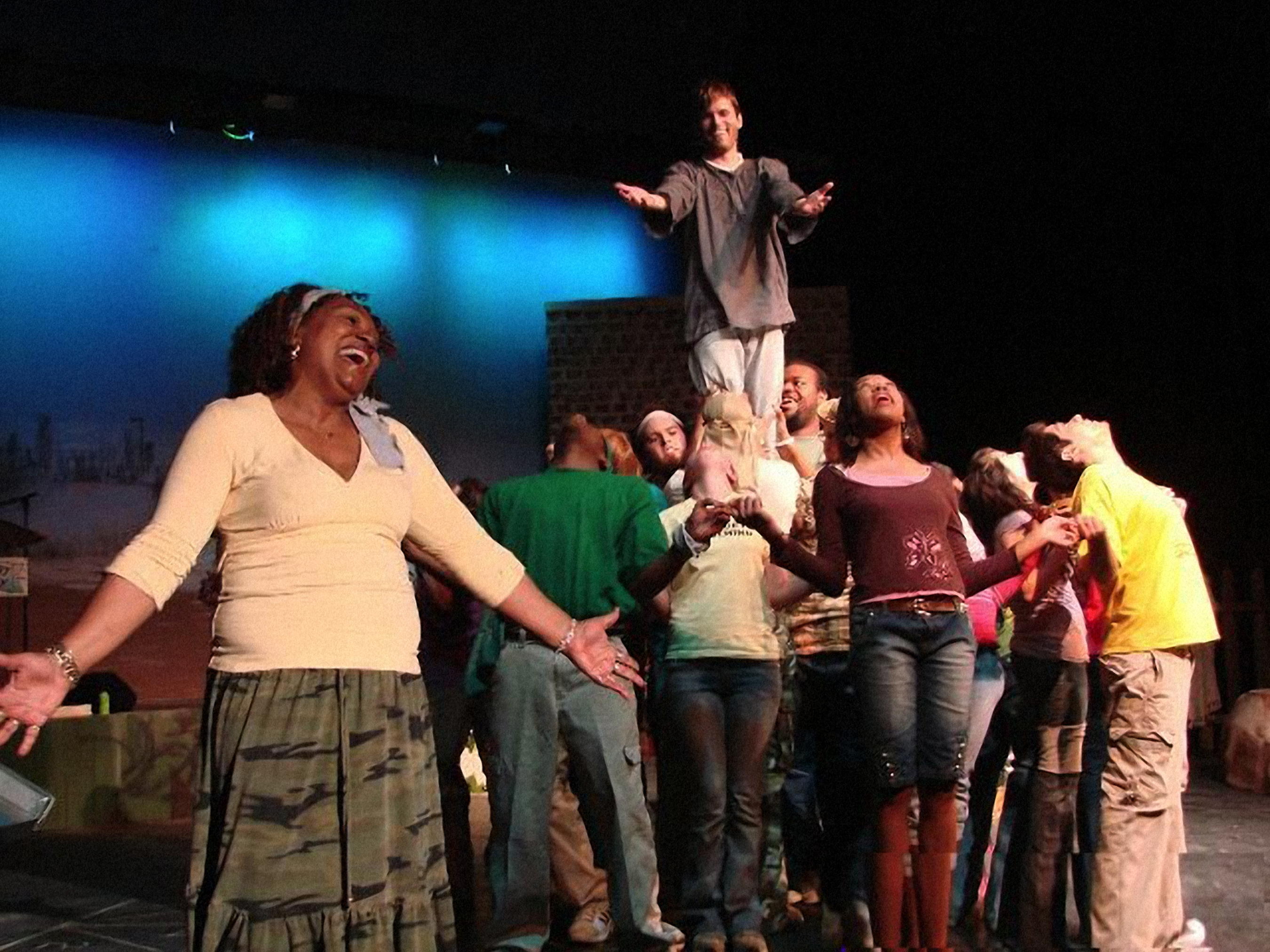 "Photo of the cast of ""Godspell!"""