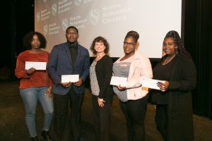 Land O'Frost and the VanEkeren family scholarship recipients Marie Padonu, Robert Williams, Qiana Clay and Sanquelle Sanders.