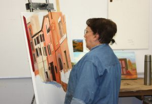Photo of a Continuing Education art student