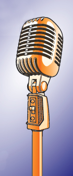 Clip art of an old-fashioned microphone