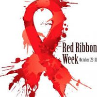 Red Ribbon Week 2019 campaign logo