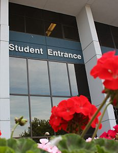 Photo of Student Entrance in the Spring