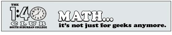The 1:40 Math Club header