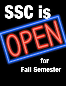 SSC is Open for Fall Semesters