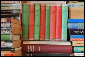 A photo of a stack of books