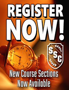 REGISTER NOW! New Course Sections Now Available
