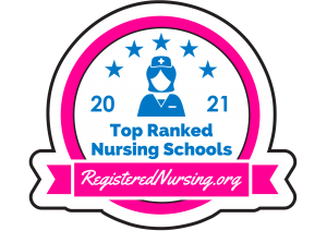 2021 Top Ranked Nursing Schools badge