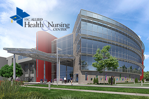 a rendering of the Allied Health & Nursing Center