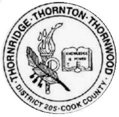 District 205 Logo White