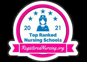 2021 Top Ranked Nursing Schools badge