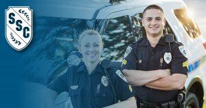 Photo of a policewoman and a poiceman