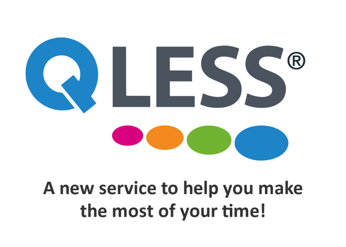 QLESS. A new service to help you make the most of your time!